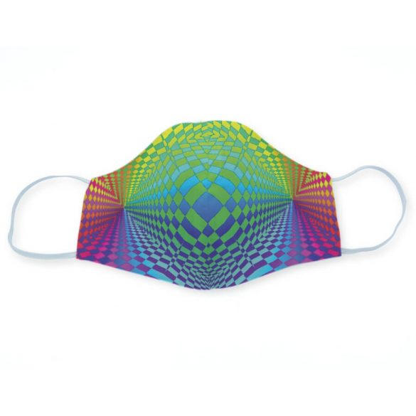 Op-art színes maszkok