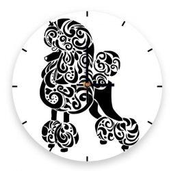 Fehér uszkáros óra fekete alapon