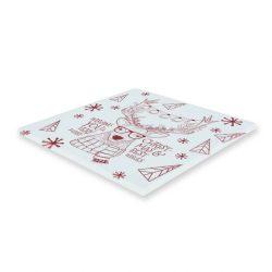 Hipster szarvasos karácsonyi poháralátét