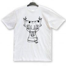Hipster szarvasos karácsonyi unisex póló