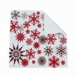 Karácsonyi hópelyhek szemüvegtörlő (több színben)