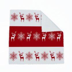 Karácsonyi szarvas-hópihe szemüvegtörlő (több színben)