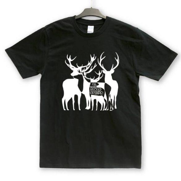 Ohh, deer karácsonyi unisex póló
