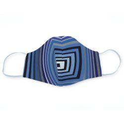 Op-art kék négyzetek egyedi szájmaszk