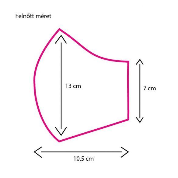 Op-art lila körös mintás egyedi szájmaszk