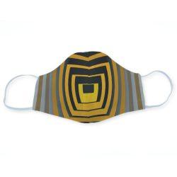 Op-art sárga négyzetek egyedi szájmaszk