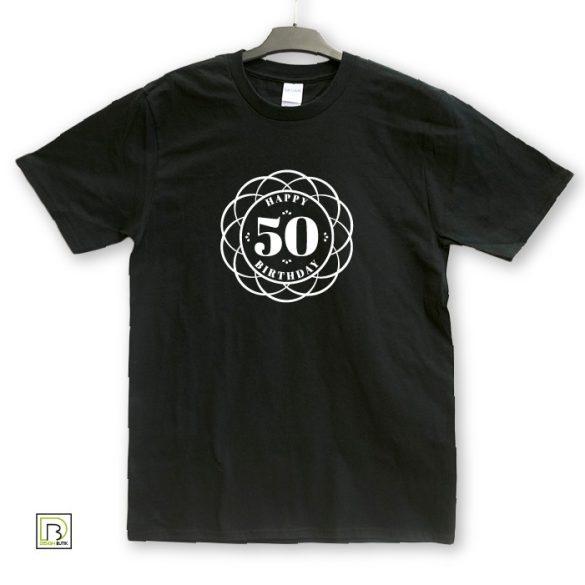 Ornamentikás születésnapi unisex póló