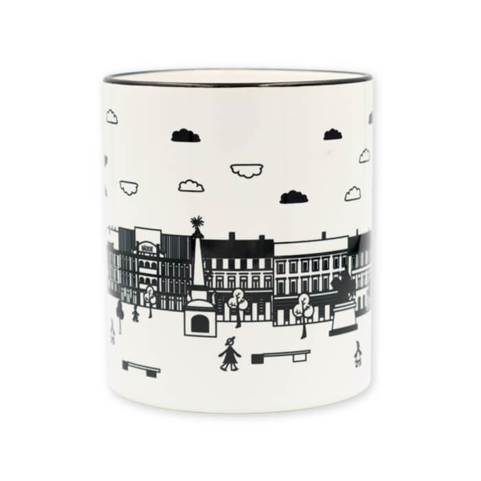 e401d838cf Pécs Széchenyi teres fekete fehér bögre - DesignButik