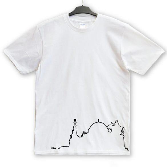 Pécs sziluett póló