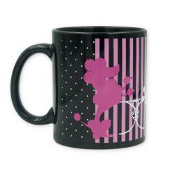 Pink pudli princess bögre fekete