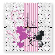 Pink pudli princess négyzetes óra