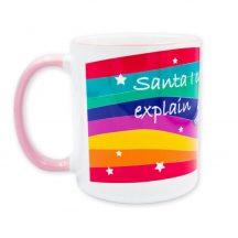 Santa, egyszarvú karácsonyi bögre