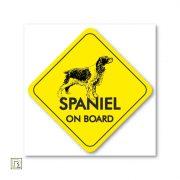 Spaniel on board sárga autómatrica (több féle spániel)