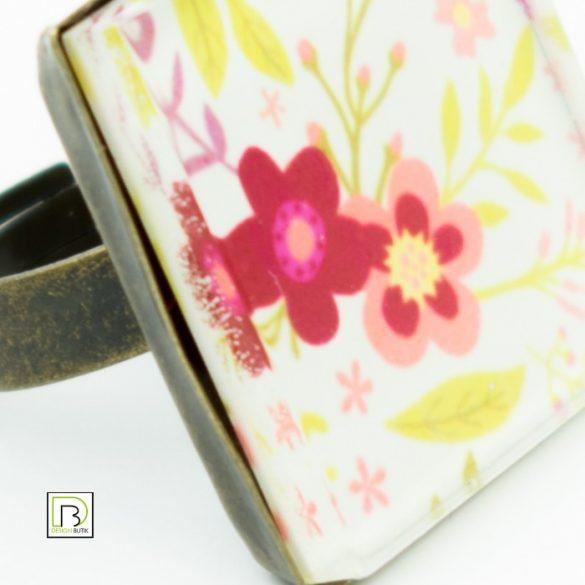 Tavaszi virág gyűrű