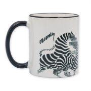 Vasarely futó zebrás bögre