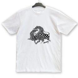 Vasarely futó zebrás póló