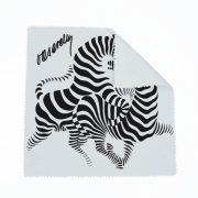 Vasarely futó zebrás szemüvegtörlő