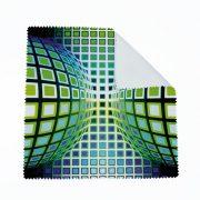Vasarely kék-zöld kör kocka szemüvegtölrő