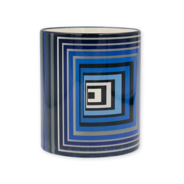 Vasarely kék négyzetek bögre