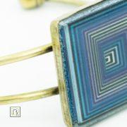 Vasarely kék négyzetek karkötő