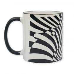 Vasarely két zebrás bögre