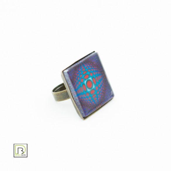 Vasarely lila körös gyűrű