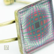 Vasarely lila négyszöges karkötő