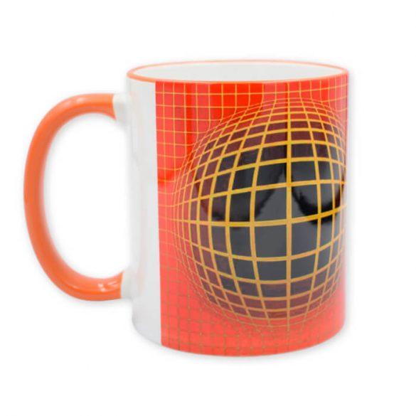 Vasarely narancs bögre