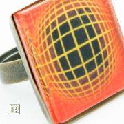 Vasarely narancs gyűrű