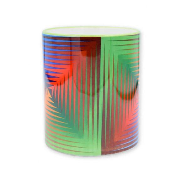 Vasarely négyszínű bögre