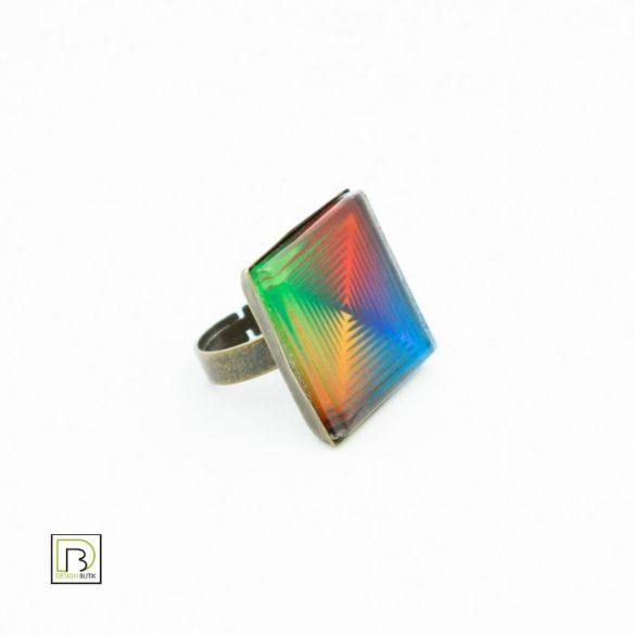 Vasarely négyszínű gyűrű