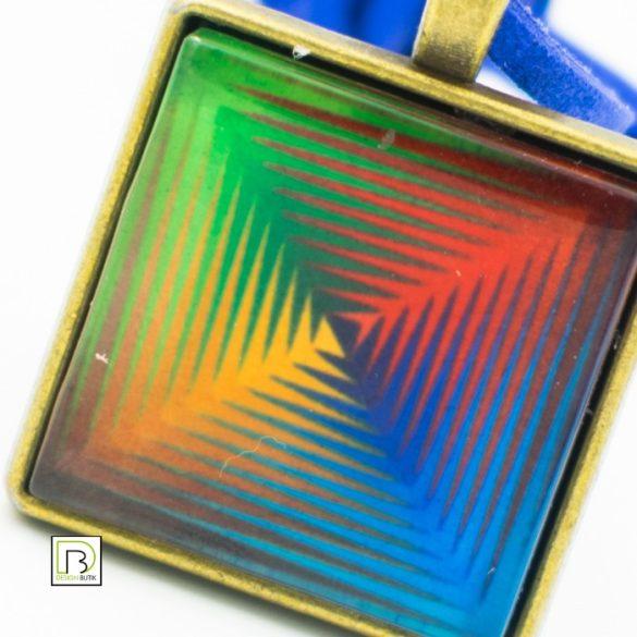 Vasarely négyszínű nyaklánc
