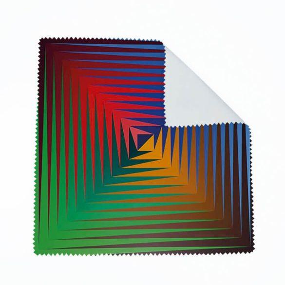 Vasarely négyszínű szemüvegtörlő