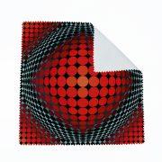 Vasarely piros körök szemüvegtörlő