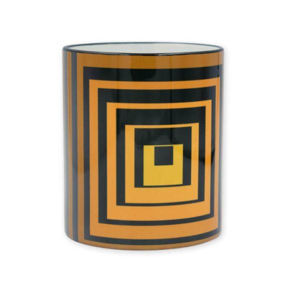 Vasarely sárga négyzetek bögre