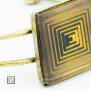 Vasarely sárga négyzetek karkötő