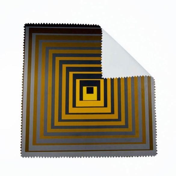 Vasarely sárga négyzetek szemüvegtörlő