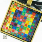 Vasarely színes kockák nyaklánc