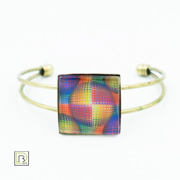 Vasarely színes kör karkötő