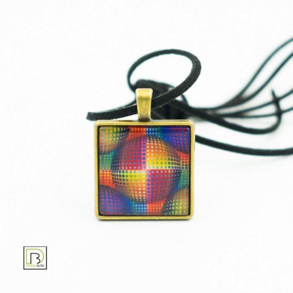 Vasarely színes kör nyaklánc