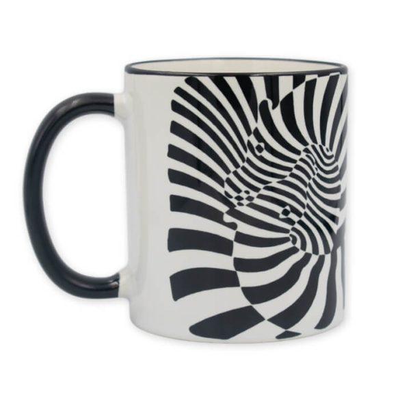 Vasarely zebrás bögre