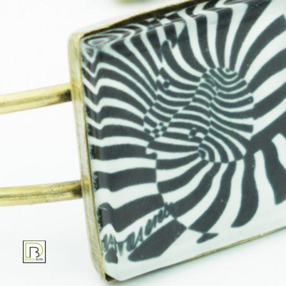 Vasarely zebrás karkötő