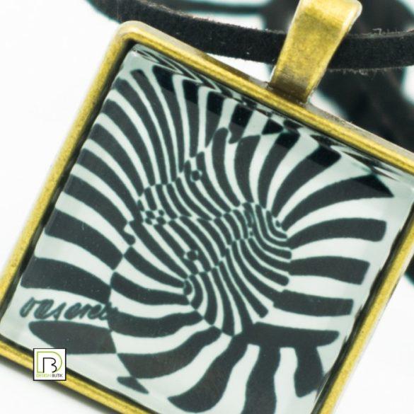 Vasarely zebrás nyaklánc