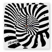 Vasarely zebrás óra