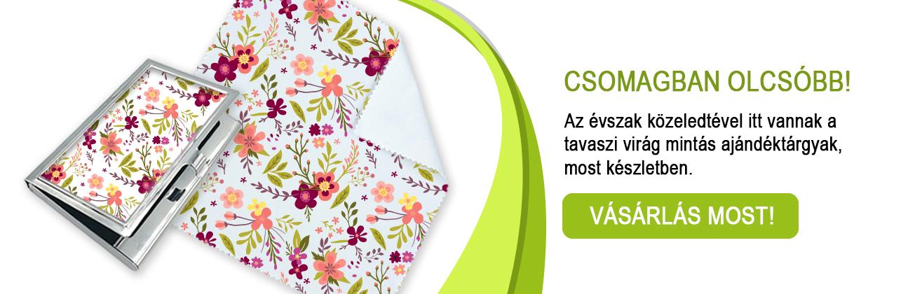 tavaszi virág mintás csomagtermékek_ajándéktárgyak